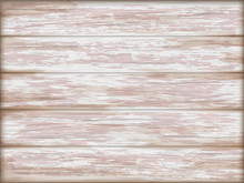 Vintage Pink Wooden Background. Horizontal Old, Shabby, Painted Wooden Planks. Vector Grunge Background.