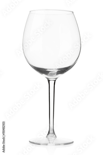 Empty wine glass isolated on white, clipping path