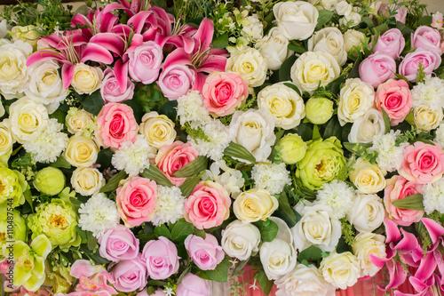 Poster Fleuriste beautiful wedding Artificial flower background