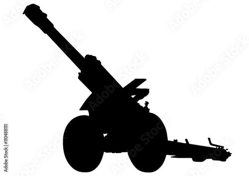 Photo Most gun battle on a white background