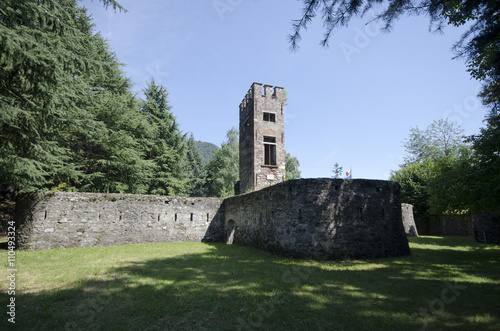 Fotografie, Obraz  Forte castello Laveno ( Italy )