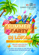 Summer Partyl poster design