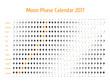Vector astrological calendar for 2017. Moon phase calendar for dark gray on a white background. Creative lunar calendar ideas for your design
