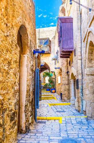 Cadres-photo bureau Ruelle etroite The maze of Jaffa streets