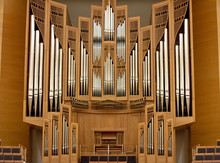 Organ Pipes In A Large Concert...