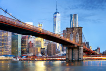 Brooklyn Bridge And WTC Freedo...