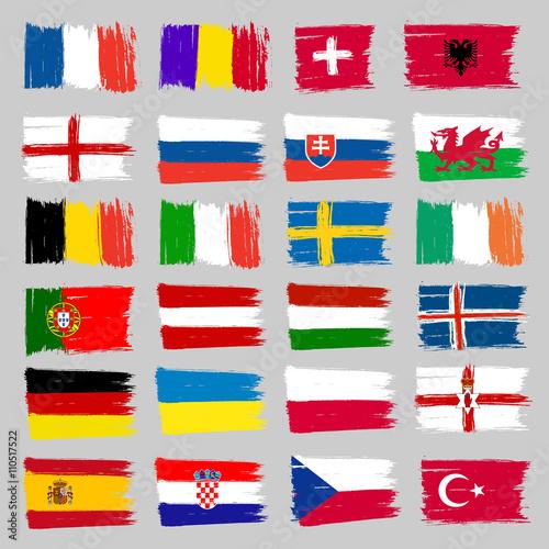 Cuadros en Lienzo Set Of European Flags