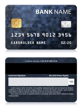 Credit Card With Abstract Poly...