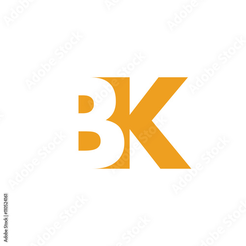 Bk Logo Vector Graphic Branding Letter Element Jpg Eps