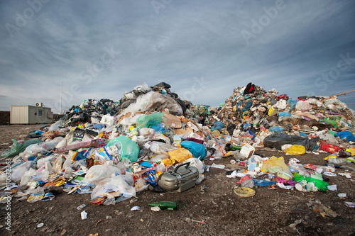 Fotografija  Pile of waste at city landfill. Waste management, ecology concept