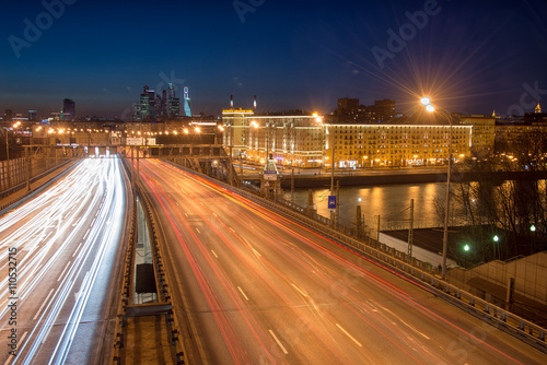 Fotografering  Moscow traffic