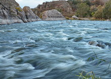 Rapids Of The Southern Buh (Yuzhny Bug) River In The Nature Reserve Of Buzkyi Hard (Buzhsky Gard), Ukraine (taken With A Slow Shutter Speed)