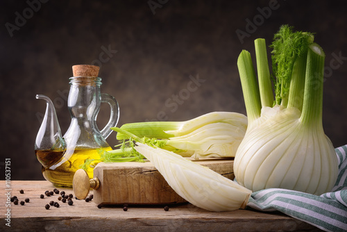 Fennel and extra virgin olive oil