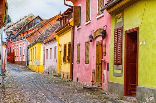 Fotografie, Obraz  Colorful Medieval Buildings