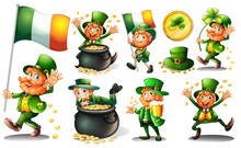 Leprechaun And Gold In Pot