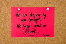 Quote Written On Red Paper Note