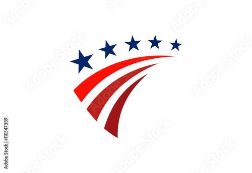 logo flagi amerykańskiej gwiazdy