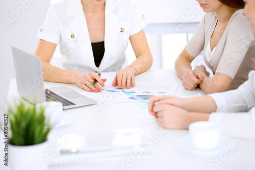 Fototapety, obrazy: Group of business people at meeting in office