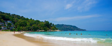Tourists On Kata Noi Beach On A Sunny Day, Phuket, Thailand