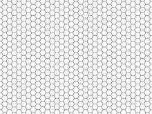Grid Seamless Pattern. Hexagonal Cell Texture. Honeycomb On White Background. Speaker Grille. Fashion Geometric Design. Graphic Style For Wallpaper, Wrapping, Fabric, Apparel, Print Production. Vector