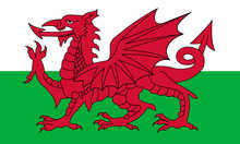 Wales Flag, Red Dragon On The ...