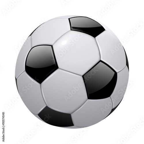 In de dag Bol soccer ball isolated