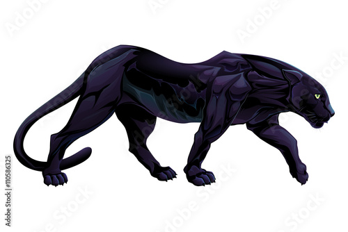 Poster kids room Illustration of a black panther