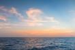 Seacoast skyline background beautiful sunset, natural landscape