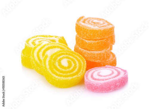 Foto op Aluminium Snoepjes candies. jelly candies on a white background