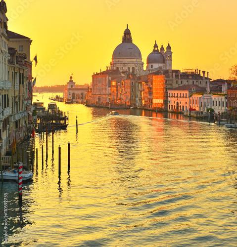 Poster Venice Basilica Santa Maria della Salute, Venice, Italy