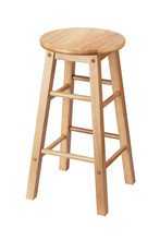 Isolated Wooden Stool