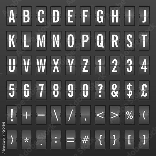 Flip clock alphabet