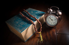 Necklace With Old Book And Alarm Clock