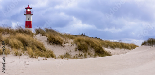 Stormy Weather - Lighthouse at List - Sylt, Germany