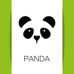 Fototapeta Panda panda bear template