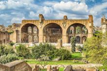 Basilica Of Maxentius And Constantine, Roman Forum In Rome, Italy