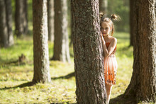 Ten-year-old Girl Looks Out Fr...