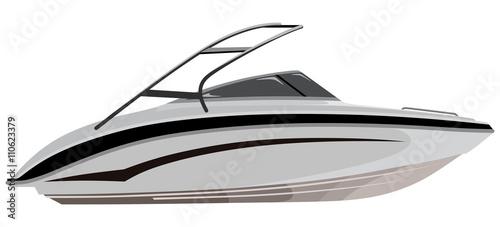 Fotografija Small motorboat