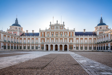 Courtyard of Royal Palace in Aranjuez
