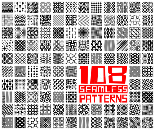 Recess Fitting Pattern Seamless Geometric Pattern Set