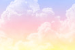 canvas print picture - sun and cloud background with a pastel colored