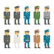 Flat design soldier uniform set