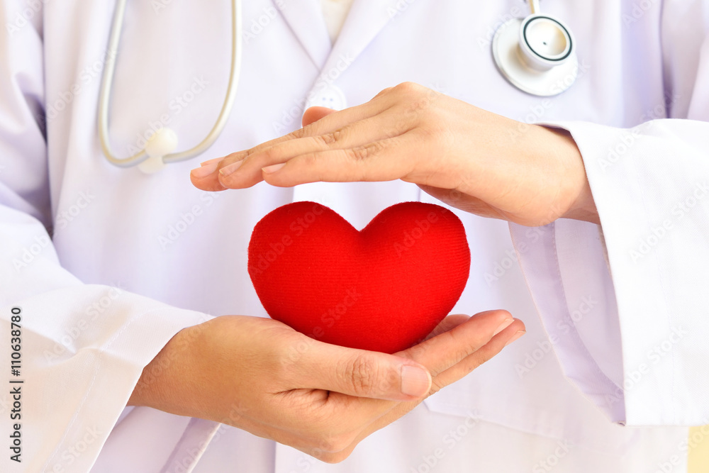 Fototapety, obrazy: Heart care, medical concept