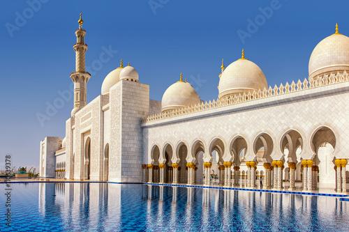 Foto op Plexiglas Abu Dhabi Schaich-Zayid-Moschee in Abu Dhabi