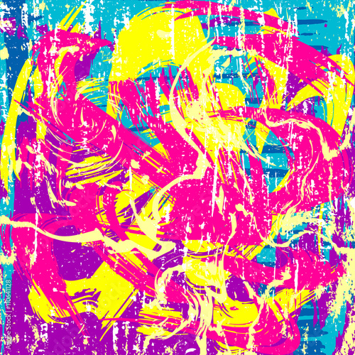 Fototapeta psychedelic colored graffiti pattern vector illustration obraz na płótnie