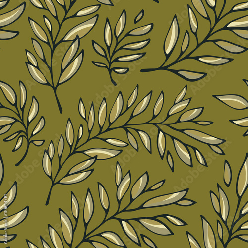 Fototapety, obrazy: Seamless pattern decorative branches