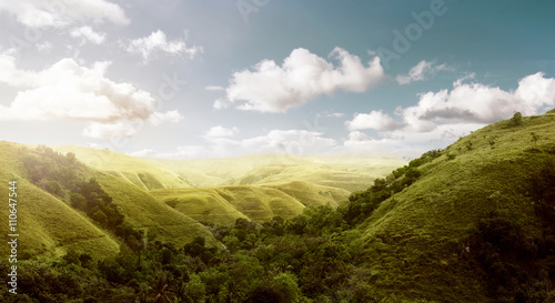 Foto op Aluminium Indonesië Sumba Island Hills Landscape