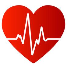 Herz Mit Guter Sinuslinie