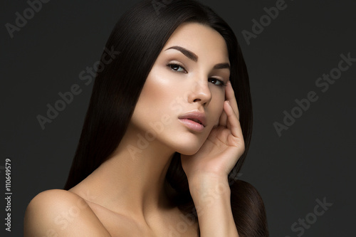 Fotografering  Beautiful woman with perfect skin