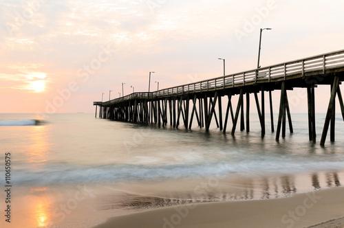 Fényképezés  Fishing Pier AT Sunrise at Virginia Beach, Virginia, USA